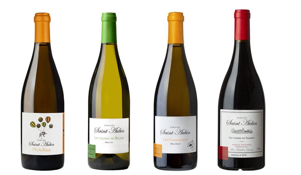 Gamme des vins Saint-Aubin